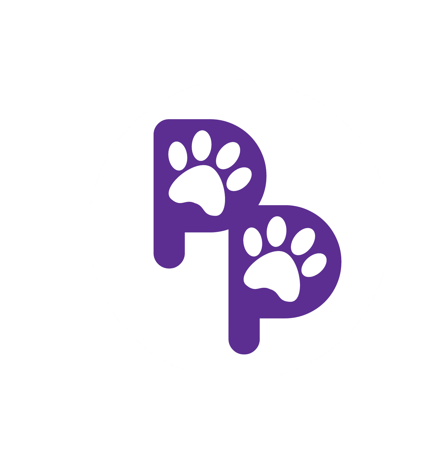 playful paws dog walking hoboken logo